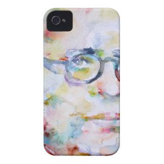 jean paul sartre - watercolor portrait iPhone 4 Case-Mate cases