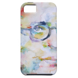 jean paul sartre - watercolor portrait iPhone 5 cover