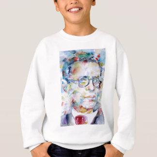 jean paul sartre - watercolor portrait sweatshirt