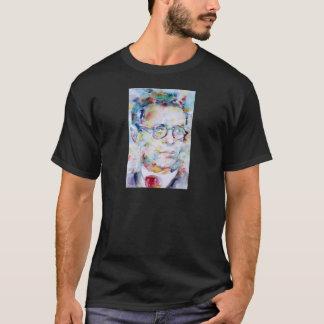jean paul sartre - watercolor portrait T-Shirt