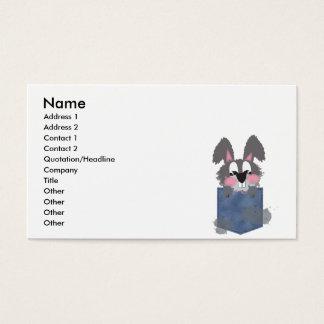 Jean Pocket Dust Bunny Business Card