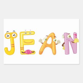 Jean Sticker
