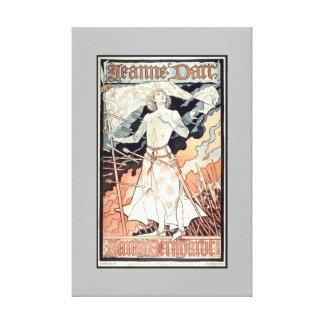 Jeanne D'Arc Art Nouveau Canvas Print