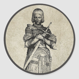 Jeanne d'Arc Classic Round Sticker