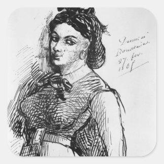 Jeanne Duval, 1865 Square Sticker