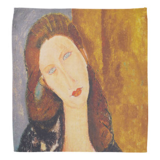 Jeanne Hebuterne portrait by Amedeo Modigliani Bandana