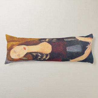Jeanne Hebuterne portrait by Amedeo Modigliani Body Pillow