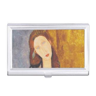Jeanne Hebuterne portrait by Amedeo Modigliani Business Card Holder