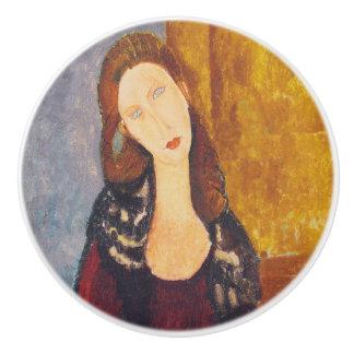 Jeanne Hebuterne portrait by Amedeo Modigliani Ceramic Knob