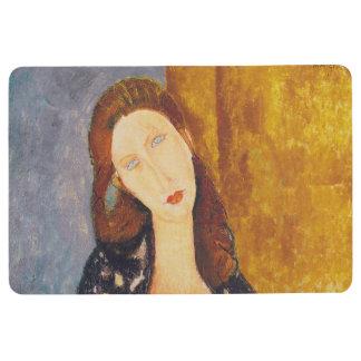 Jeanne Hebuterne portrait by Amedeo Modigliani Floor Mat