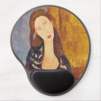 Jeanne Hebuterne portrait by Amedeo Modigliani Gel Mouse Pad