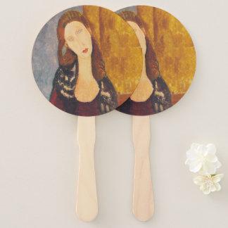 Jeanne Hebuterne portrait by Amedeo Modigliani Hand Fan