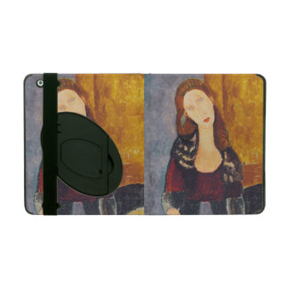 Jeanne Hebuterne portrait by Amedeo Modigliani iPad Folio Case
