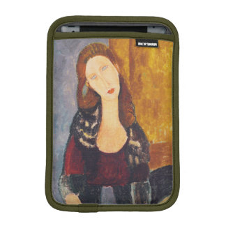 Jeanne Hebuterne portrait by Amedeo Modigliani iPad Mini Sleeve