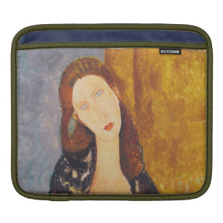 Jeanne Hebuterne portrait by Amedeo Modigliani iPad Sleeve