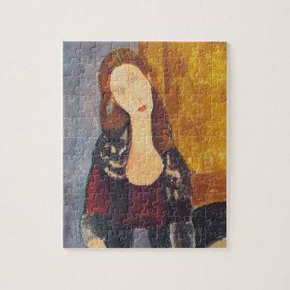 Jeanne Hebuterne portrait by Amedeo Modigliani Jigsaw Puzzle