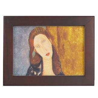 Jeanne Hebuterne portrait by Amedeo Modigliani Keepsake Box