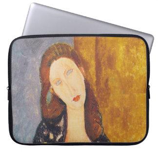 Jeanne Hebuterne portrait by Amedeo Modigliani Laptop Sleeve