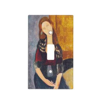 Jeanne Hebuterne portrait by Amedeo Modigliani Light Switch Cover
