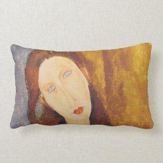 Jeanne Hebuterne portrait by Amedeo Modigliani Lumbar Pillow