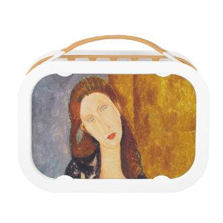Jeanne Hebuterne portrait by Amedeo Modigliani Lunch Box