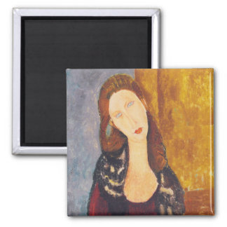 Jeanne Hebuterne portrait by Amedeo Modigliani Magnet