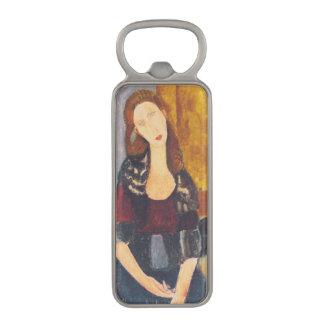 Jeanne Hebuterne portrait by Amedeo Modigliani Magnetic Bottle Opener