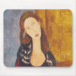 Jeanne Hebuterne portrait by Amedeo Modigliani Mouse Pad