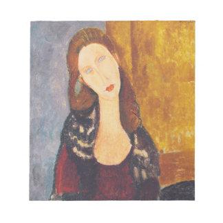 Jeanne Hebuterne portrait by Amedeo Modigliani Notepad