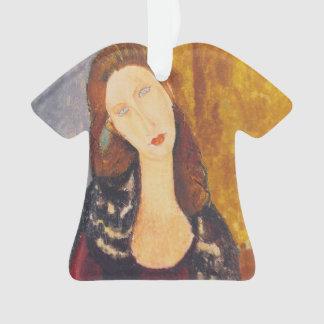 Jeanne Hebuterne portrait by Amedeo Modigliani Ornament