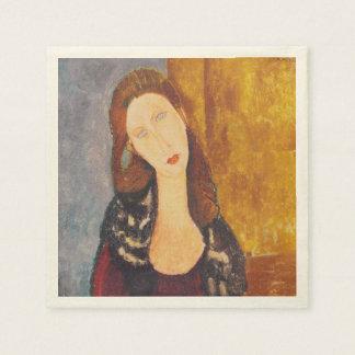 Jeanne Hebuterne portrait by Amedeo Modigliani Paper Napkins