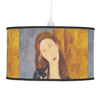 Jeanne Hebuterne portrait by Amedeo Modigliani Pendant Lamp