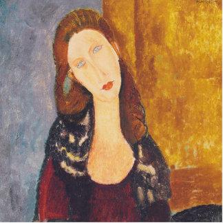 Jeanne Hebuterne portrait by Amedeo Modigliani Photo Sculpture Button