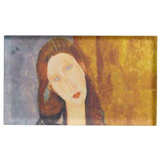 Jeanne Hebuterne portrait by Amedeo Modigliani Place Card Holder