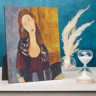 Jeanne Hebuterne portrait by Amedeo Modigliani Plaque