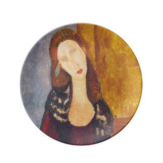 Jeanne Hebuterne portrait by Amedeo Modigliani Plate