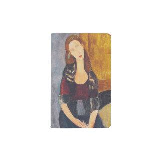 Jeanne Hebuterne portrait by Amedeo Modigliani Pocket Moleskine Notebook