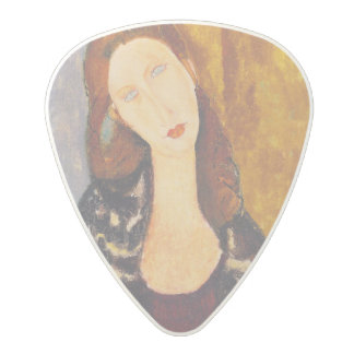 Jeanne Hebuterne portrait by Amedeo Modigliani Polycarbonate Guitar Pick