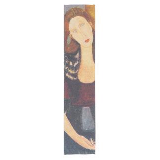 Jeanne Hebuterne portrait by Amedeo Modigliani Short Table Runner