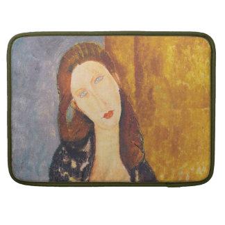 Jeanne Hebuterne portrait by Amedeo Modigliani Sleeve For MacBook Pro