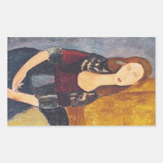 Jeanne Hebuterne portrait by Amedeo Modigliani Sticker