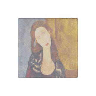 Jeanne Hebuterne portrait by Amedeo Modigliani Stone Magnets