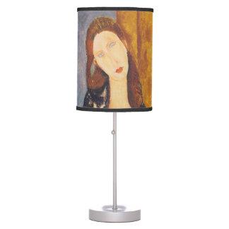 Jeanne Hebuterne portrait by Amedeo Modigliani Table Lamp