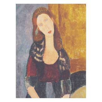 Jeanne Hebuterne portrait by Amedeo Modigliani Tablecloth