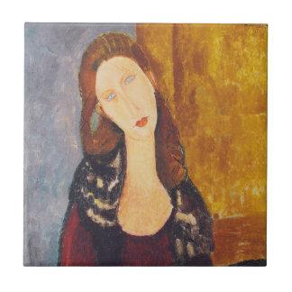 Jeanne Hebuterne portrait by Amedeo Modigliani Tile