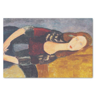 Jeanne Hebuterne portrait by Amedeo Modigliani Tissue Paper