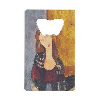 Jeanne Hebuterne portrait by Amedeo Modigliani Wallet Bottle Opener