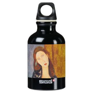 Jeanne Hebuterne portrait by Amedeo Modigliani Water Bottle