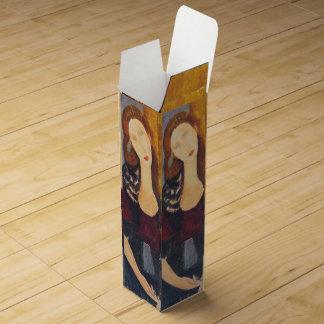 Jeanne Hebuterne portrait by Amedeo Modigliani Wine Box