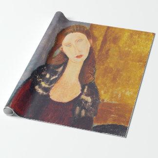 Jeanne Hebuterne portrait by Amedeo Modigliani Wrapping Paper
